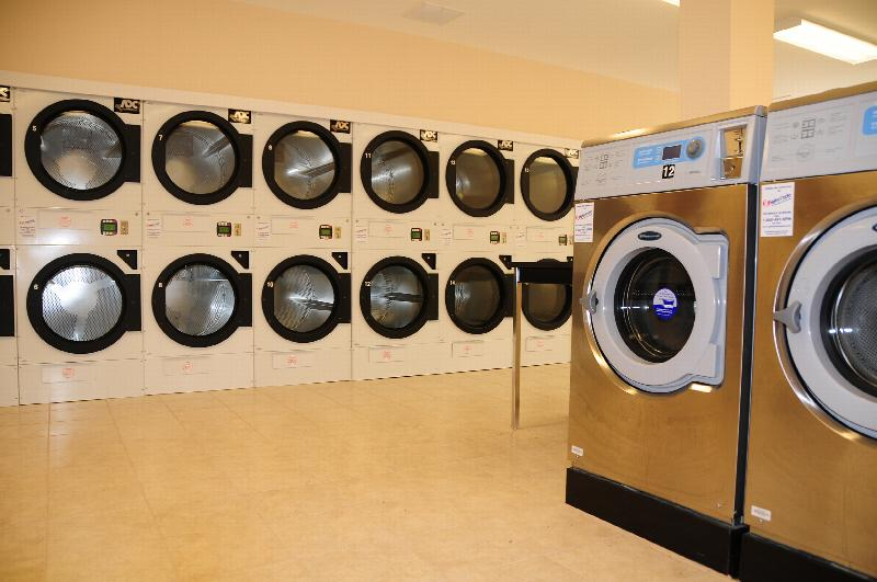 North Brunswick Manor Laundry photo showing several washing machines and dryers.
